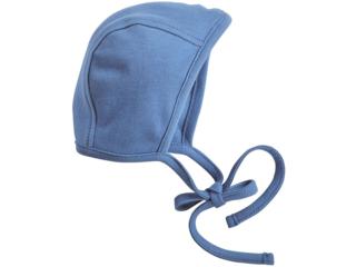 Babymütze Erstlingsmütze Bio-Baumwolle blau