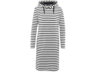 """Damen Kleid mit Kapuze """"Gigi"""" offwhhite-stripes"""