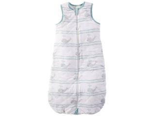 Schlafsack Baby Bio-Baumwolle Jersey ohne Arm Wal