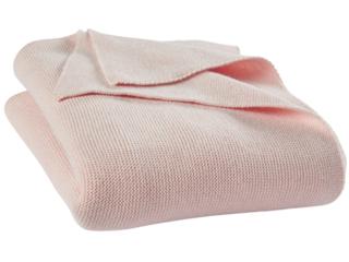 Babydecke Strick-Qualität Bio-Baumwolle (kbA) rose melange