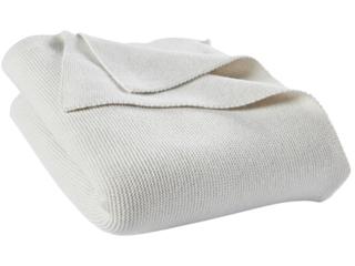 Babydecke Strick-Qualität Bio-Baumwolle (kbA)  hellgrau melange