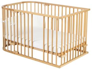 Babybay Original Umbausatz Kinderbett, Buche massiv, unbehandelt