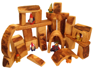 Holzbauklötze natur, Erlenholz