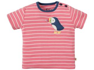 Baby und Kinder T-Shirt Papageientaucher rosa