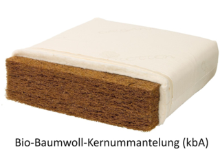 3-Schicht Bio Jugendmatratze Kokos Jeunesse classic Bio-Baumwolle