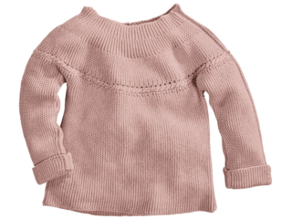 Kinder Pullover Bio-Baumwolle Strick rosé