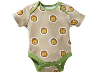 Baby Body Kurzarm Bio-Baumwolle Löwe