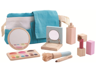 Kinder Makeup Schmink Set mit Zubehör aus Kautschukholz