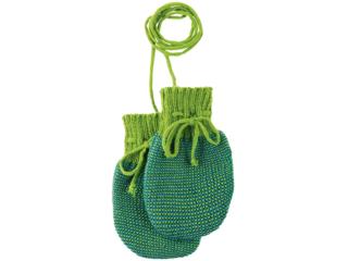 Baby Handschuhe melange-grün