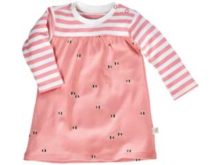 Baby Kleid Langarm Bio Baumwolle Biene Rosa Von Hans Natur Gr 50 56