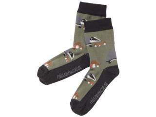 Kinder Socken Dachs oliv