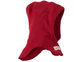 Baby und Kinder Helmmütze Schlupfmütze Wolle Seide rot