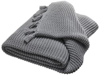 Kuscheldecke für Erwachsene Bio Baumwolle stone lightgrey-melange