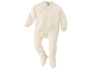 Baby Schlafanzug, Bio-Schafschurwolle (kbT) natur