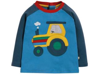 Baby und Kinder Langarmshirt Trecker blau