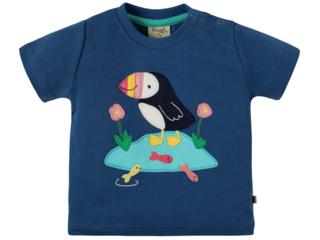 Baby und Kinder T-Shirt Papageientaucher marine