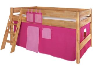 Spielvorhang für Spiel- und Hochbett, 3-teilig, pink-rosa