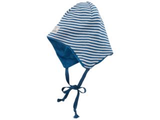 """Kindermütze Helmmütze """"Radler"""" Wolle Seide ocean-natur"""