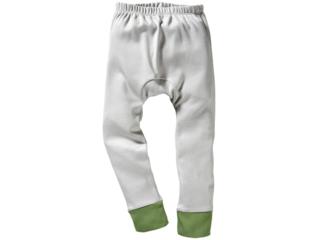 Kinder Unterhose lang Bio-Baumwolle grau