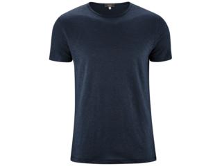 "Herren T-Shirt ""Andy"" Bio-Leinen ink blue"