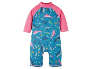 Baby und Kinder Badeanzug UV Schutzkleidung UV 40 plus Wale