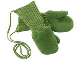 Baby und Kinder Handschuhe Merino-Schurwollfleece (kbT) apfel