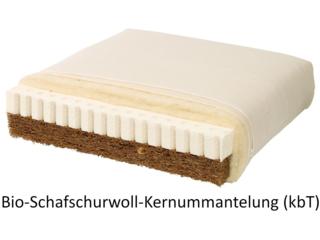 Bio-Kindermatratze Kokos-Naturlatex Bio-Schurwolle - die Wendematratze