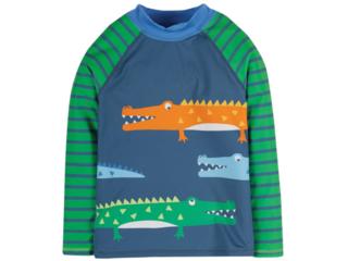 Kinder Langarmshirt Badeshirt UV Schutzkleidung UV 50 plus Krokodile