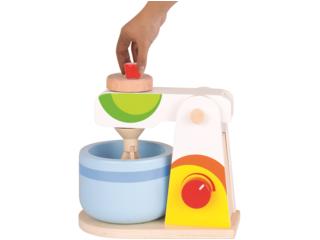Mixer für die Kinderküche, Lindenholz, 2-teilig