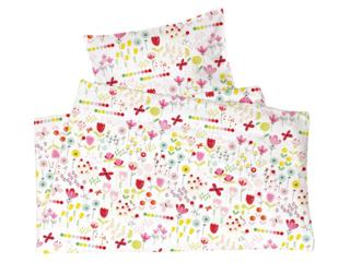 Kinderbettwäsche Bio-Baumwolle Jersey Blumenwiese