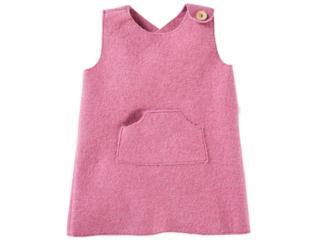 Kinder Kleid Bio Schurwoll-Walk pink