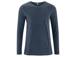 "Herren Langarm Shirt ""Florian"" blue shadow-black"