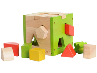 Sortierwürfel aus Holz