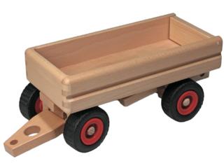 Großer Lastwagen-Anhänger aus massivem Buchenholz