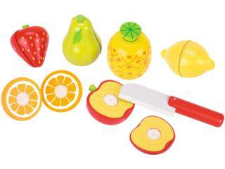 Obst mit Klettverbindung Kaufladenzubehör aus Holz