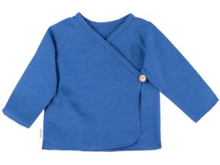 Baby Shirt zum Wickeln Bio-Merinowolle (kbT) nautic