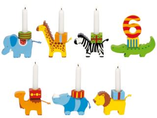 Geburtstagszug Tierparade aus Holz