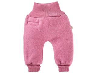 Baby Hose Bio Schurwoll-Walk pink