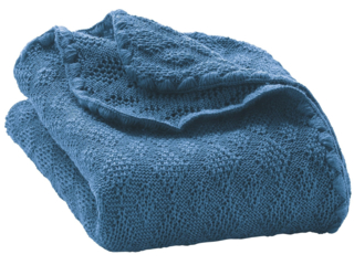 Baby-Wolldecke blue