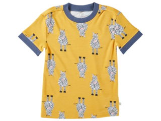 Kinder T-Shirt Bio-Baumwolle Zebrafreunde curry