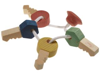Schlüsselbund Bio Greifling aus Holz