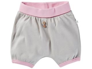 Pumphose Baby kurz Bio-Baumwolle beige-rosa