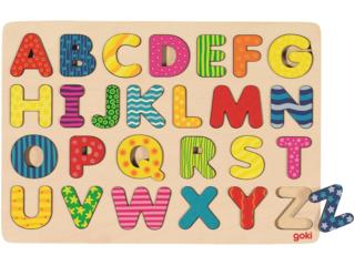 Steckpuzzle aus Holz Alphabet 26-teilig