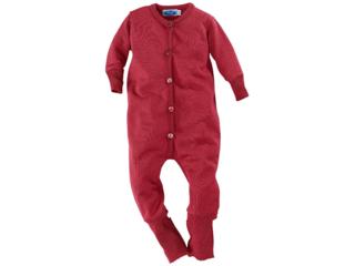 Baby Overall Bio-Merinowolle (kbT)-Seide burgund