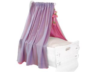 Himmel für Babywiege Bio-Baumwolle hellblau-rosa