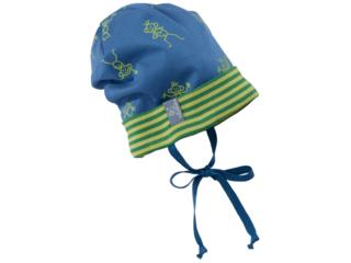 Baby und Kinder Beanie Mütze Luca Strichmännchen blau