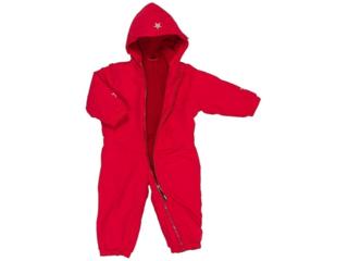 "Baby und Kinder Overall mit Kapuze ""BabyTodd`s"" rot"