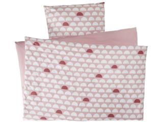 Bettwäsche zum Wenden Bio-Baumwolle Halbkreis Rosa
