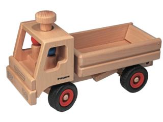 Großer lenkbarer Lastwagen Kipper aus Buchenholz