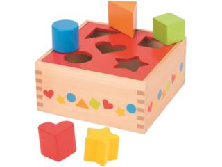 Steckspiel Würfel aus Holz 7-teilig